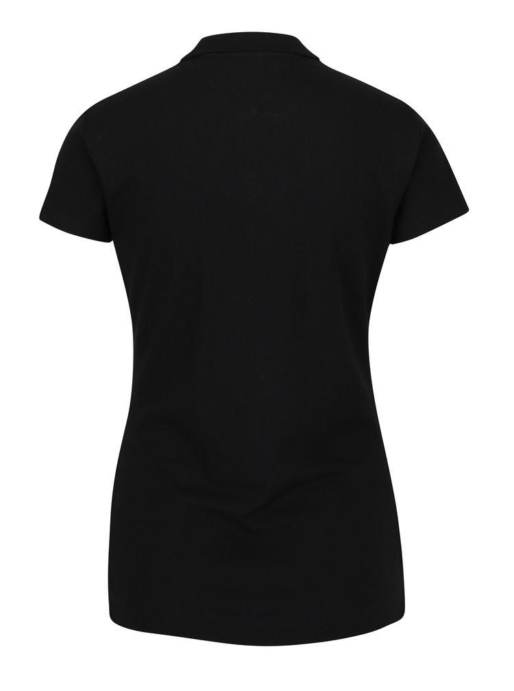 Černé dámské slim fit polo tričko Tommy Hilfiger New Chiara