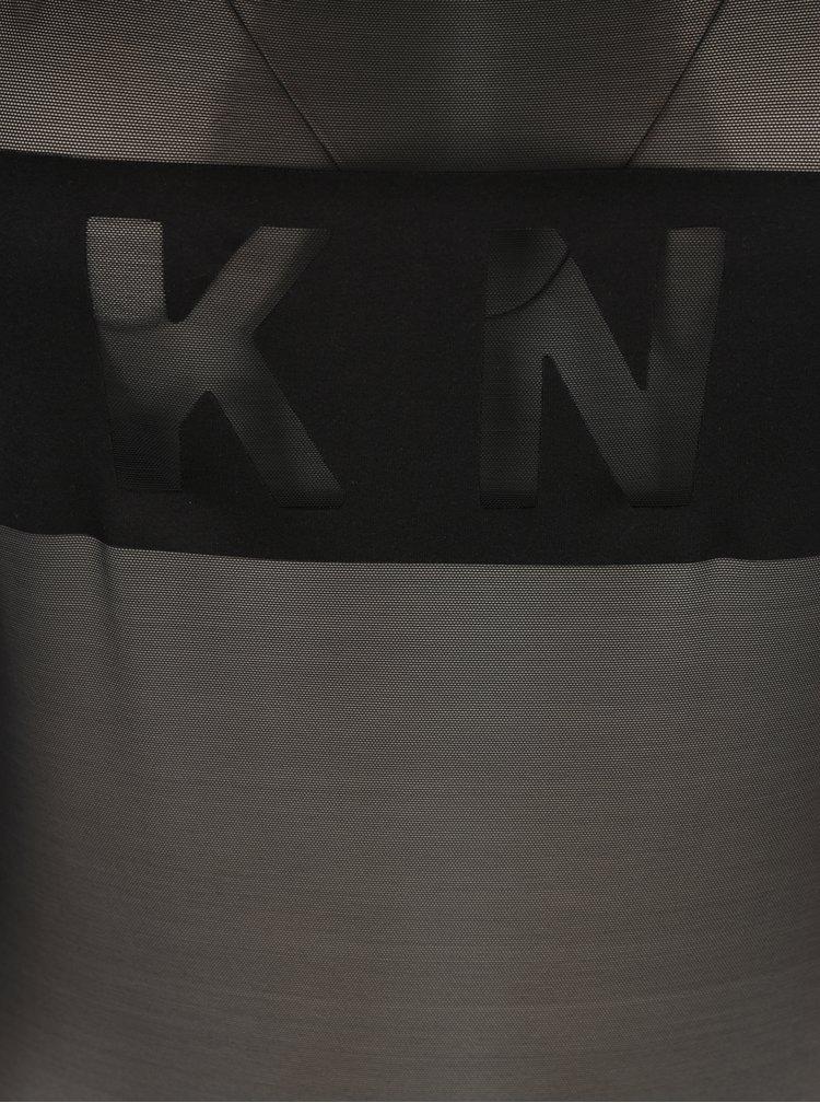Černé průsvitné body s nápisem DKNY