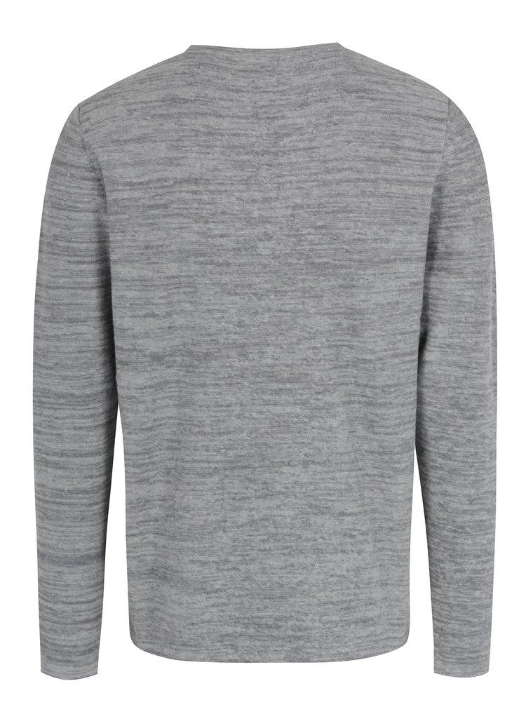 Světle šedý žíhaný svetr Jack & Jones Originals Fargo