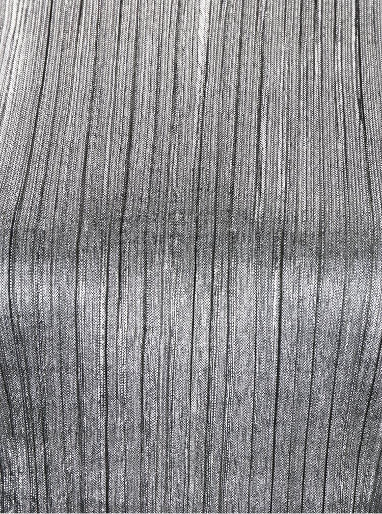 Plisovaný top ve stříbrné barvě VILA Silvi