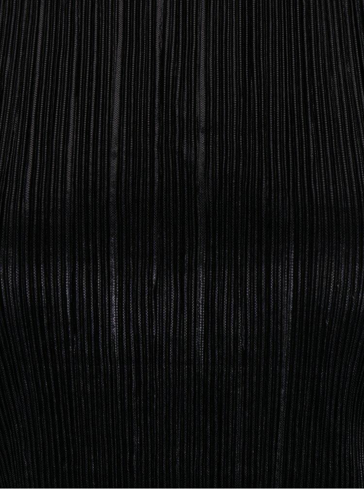 Černý plisovaný top VILA Silvi
