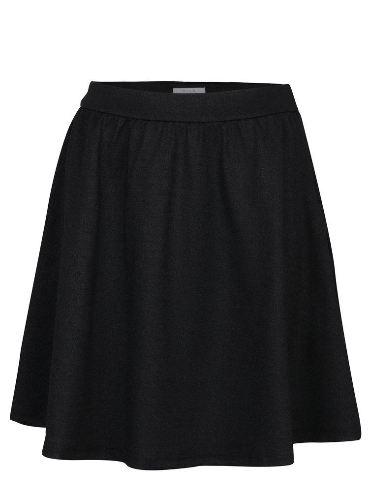 Černá třpytivá sukně VILA Aria