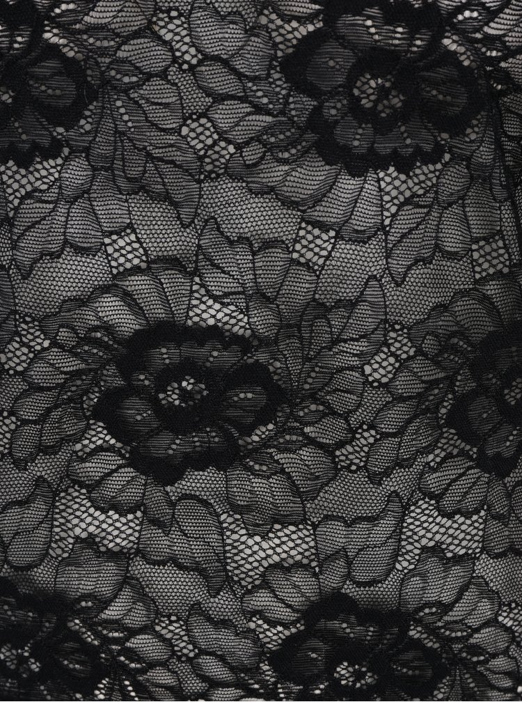 Černý krajkový top VILA Ikas