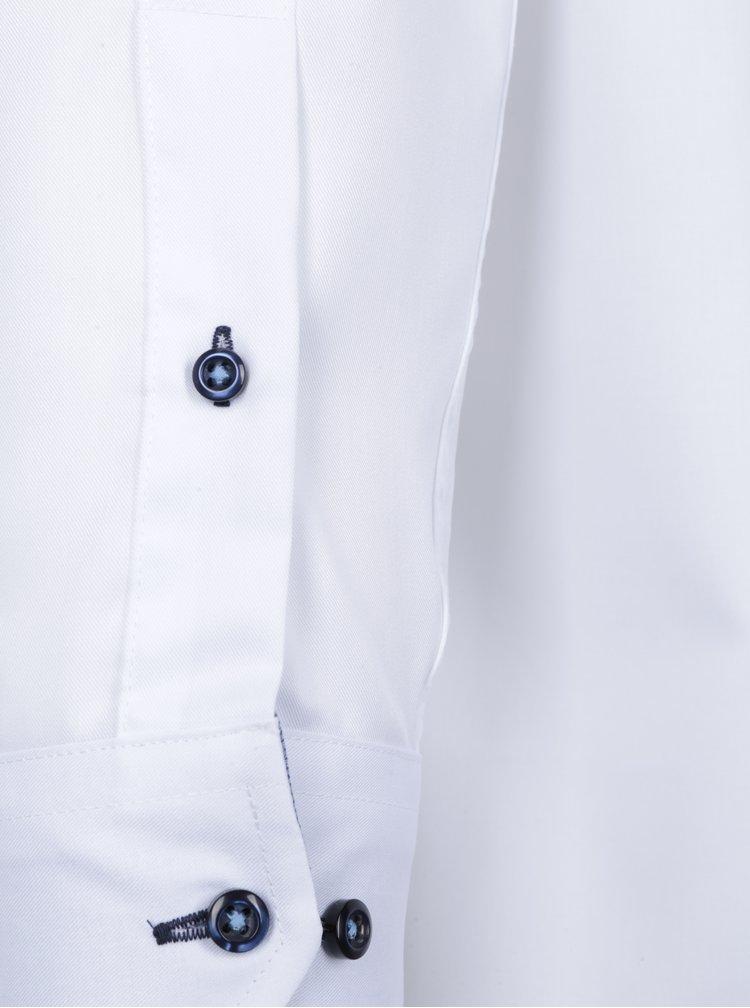 Camasa alba cu nasturi albastri Seven Seas