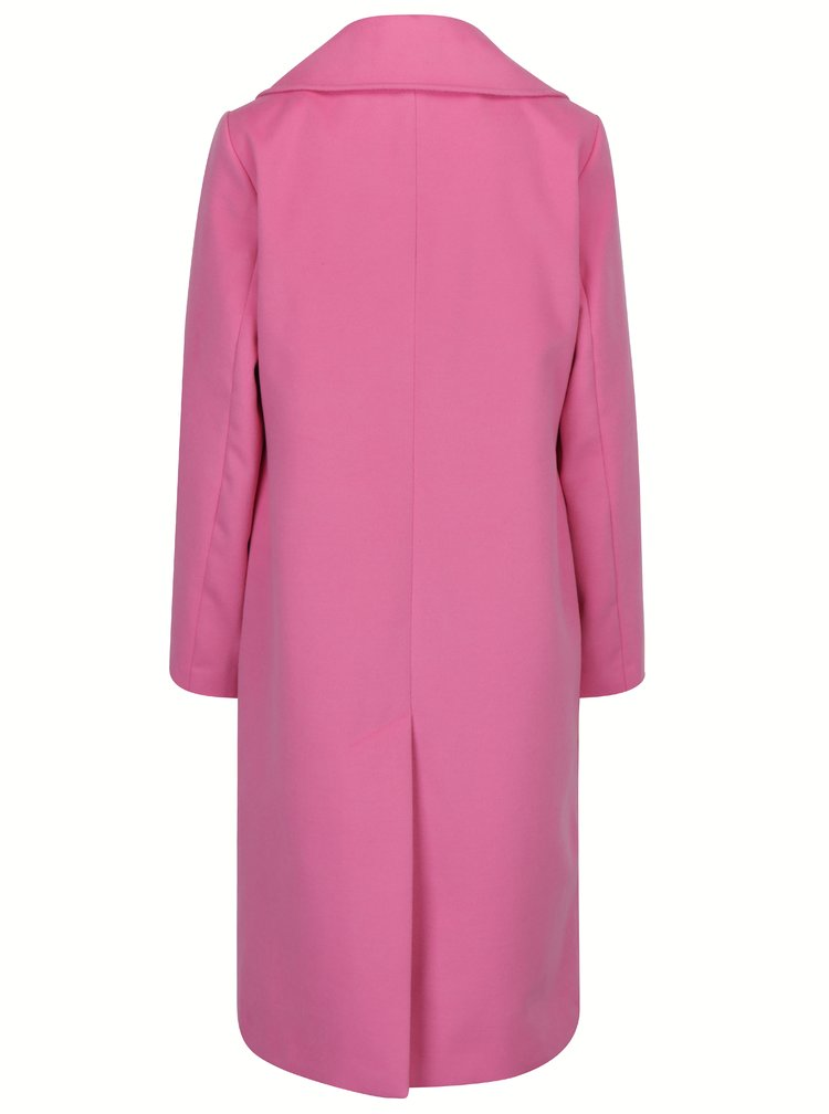 Růžový kabát s podšívkou Miss Selfridge