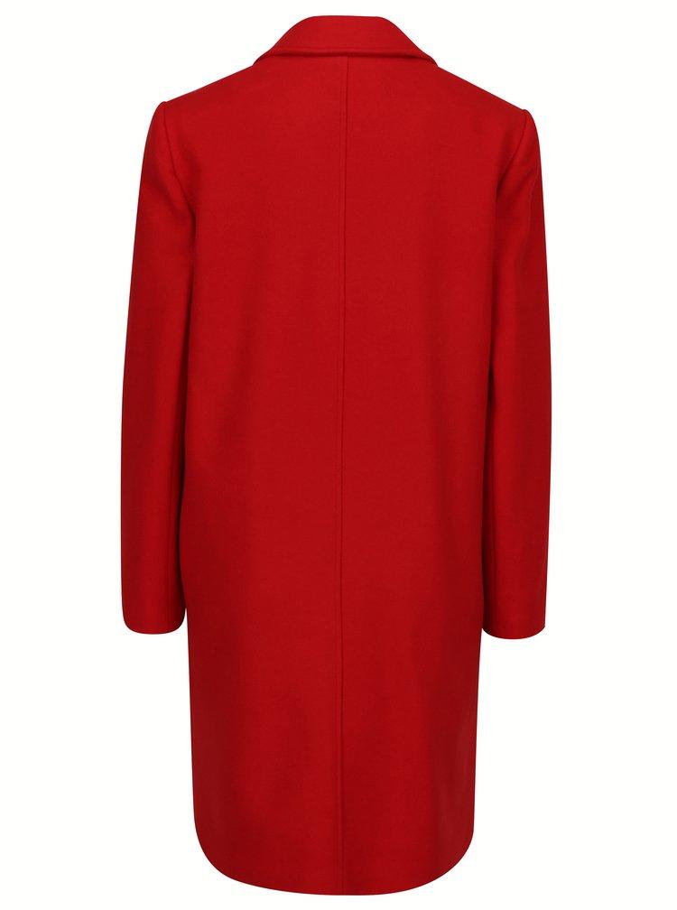 Červený kabát s příměsí vlny Miss Selfridge