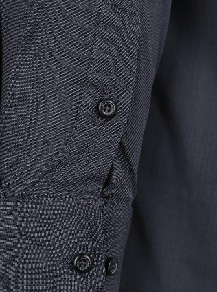 Tmavě šedá pánská formální košile Seven Seas