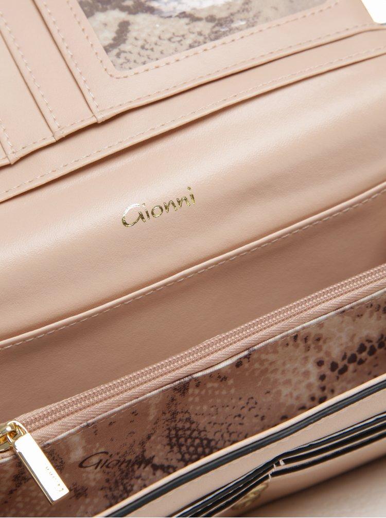 Portofel mare roz cu detalii aurii - Gionni Colette