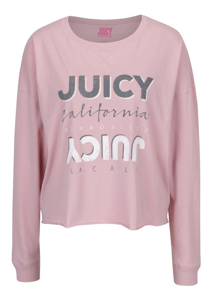 Růžové tričko s dlouhým rukávem Juicy Couture