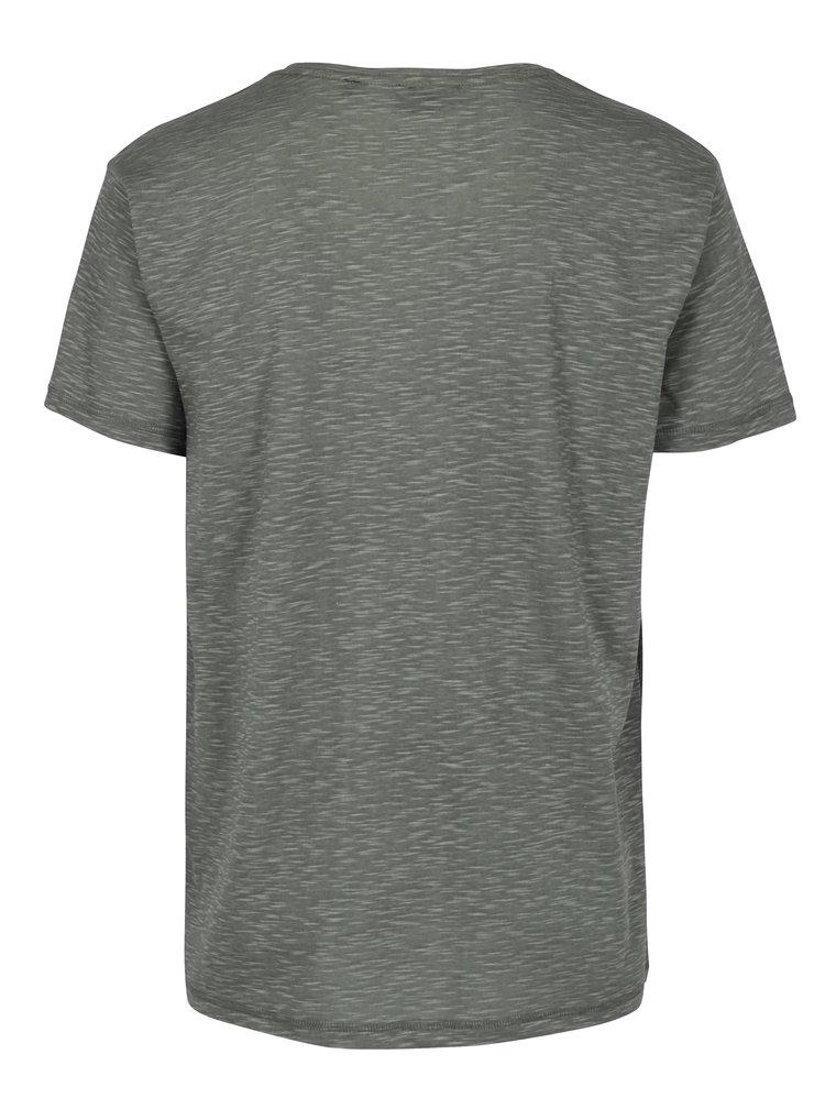 Zelené pánské tričko s krátkým rukávem Broadway Rice
