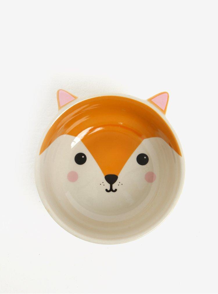 Oranžová miska ve tvaru lišky Sass & Belle