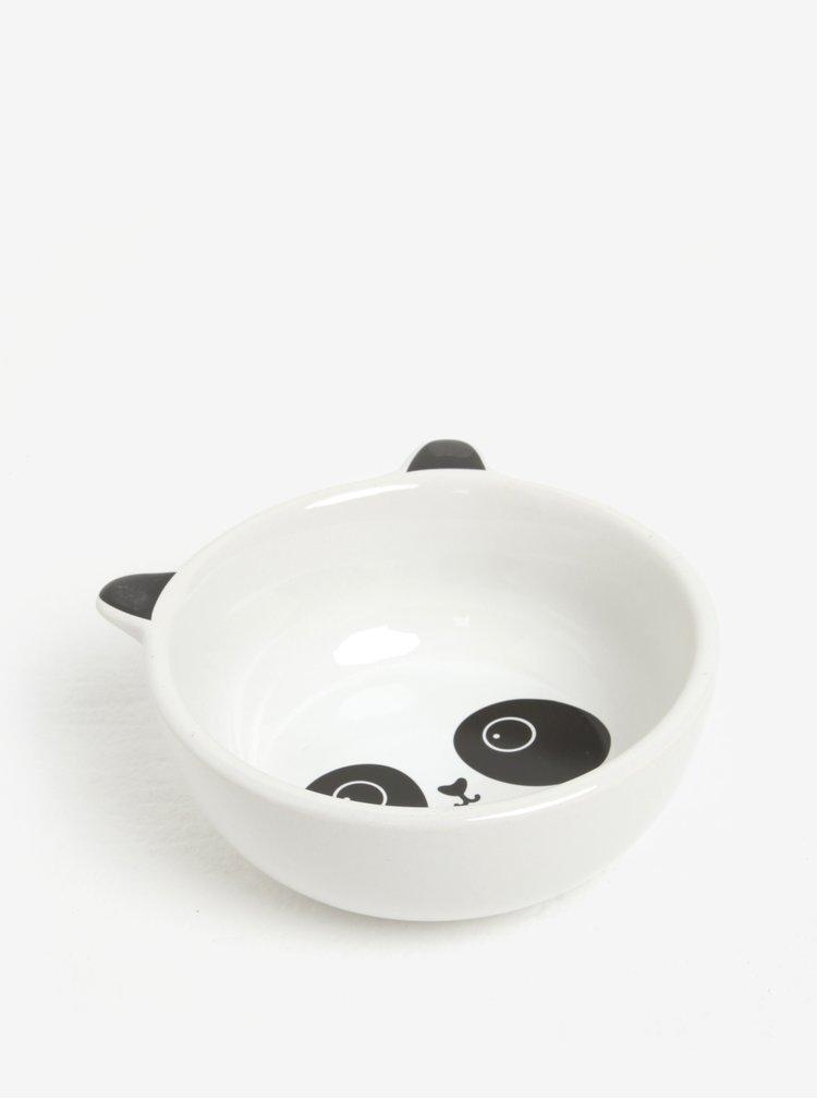 Černo-bílá miska ve tvaru pandy Sass & Belle