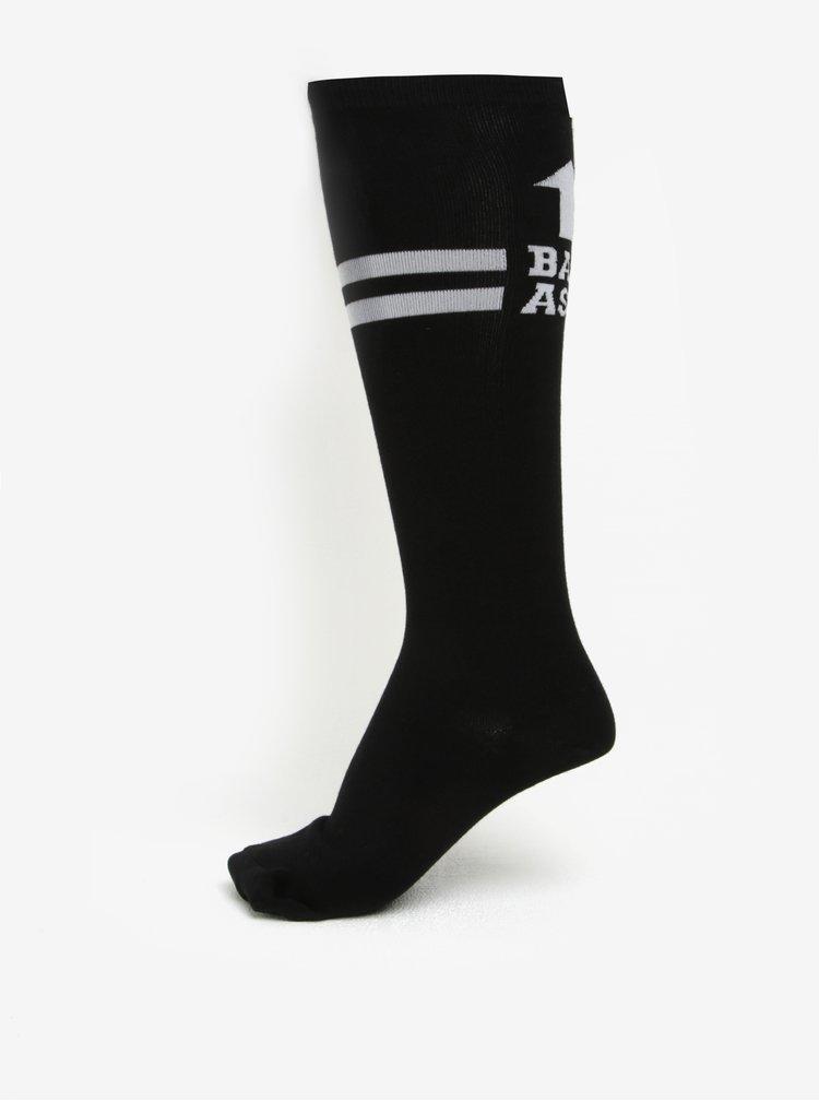Sosete negre pana la genunchi cu mesaj pentru femei - Sock It to Me Badass