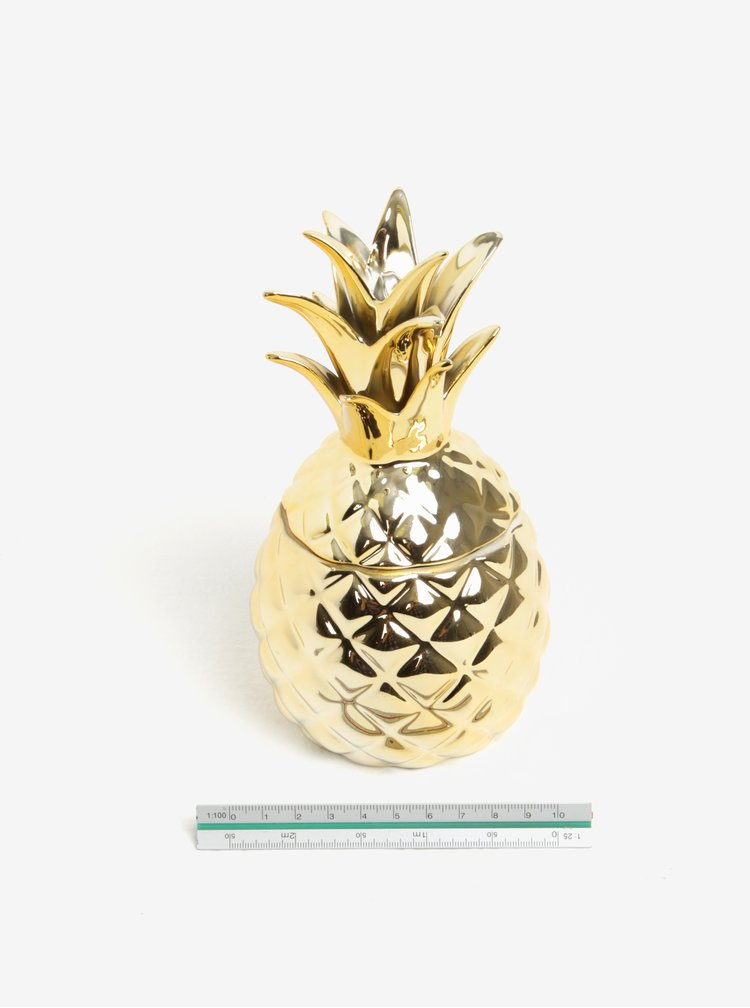 Recipient auriu  in forma de ananas pentru bijuterii - Sass & Belle