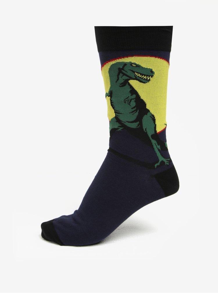 Sosete bleumarin cu print dinozauri pentru barbati - Sock It to Me T-Rex