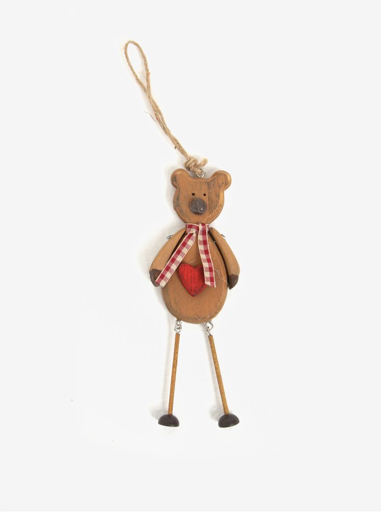Decoratiune maro pentru Craciun in forma de ursulet - Sass & Belle