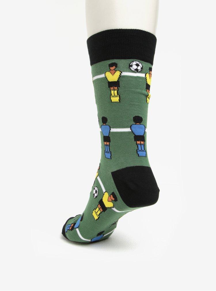 Sosete verzi cu print fussball pentru barbati - Sock It to Me Gooal