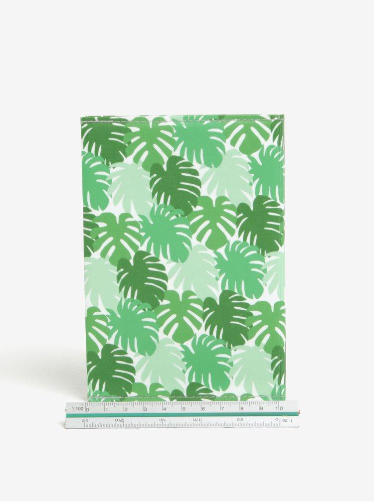 Carnetel A6 handmade verde cu print frunze - I Like Paper A6