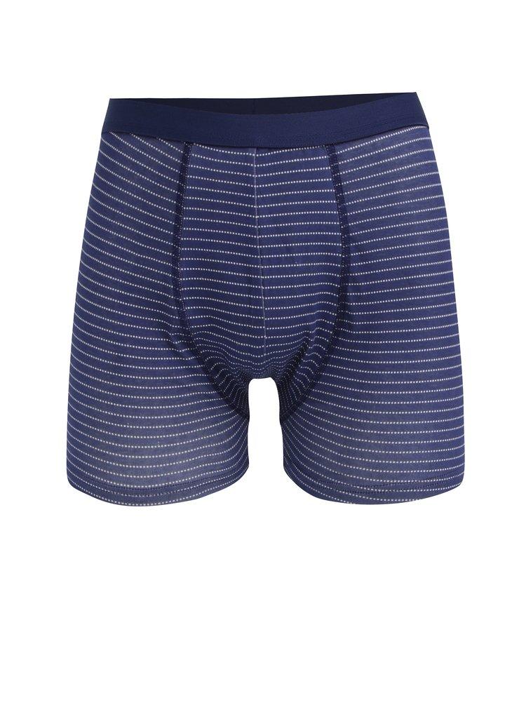 Sada tří vzorovaných boxerek v modré a zelené barvě M&Co
