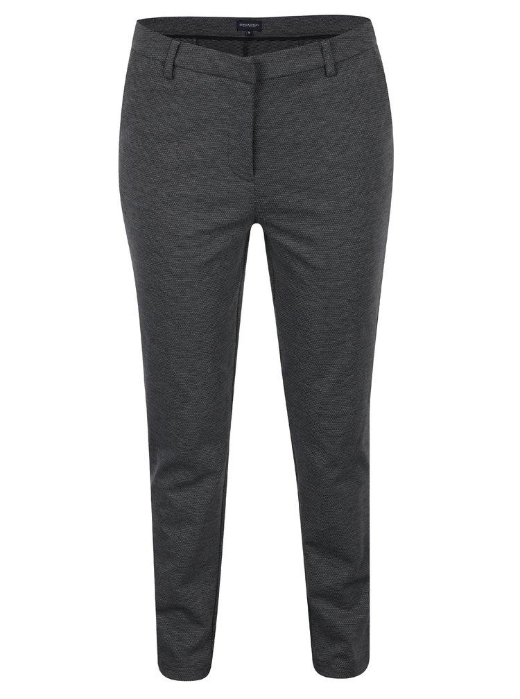 Šedé dámské žíhané kalhoty Broadway Samira