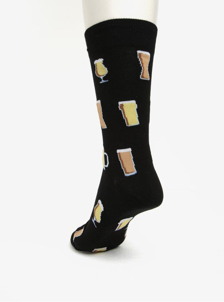 Sosete negre cu print amuzant pentru barbati - Sock It to Me Prost