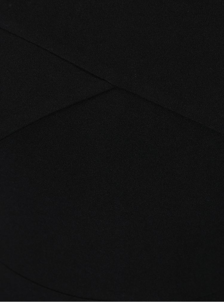Černé maxišaty s rozparkem AX Paris