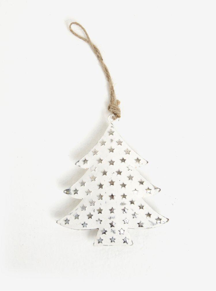 Bílá vánoční dekorace ve tvaru stromku Sass & Belle