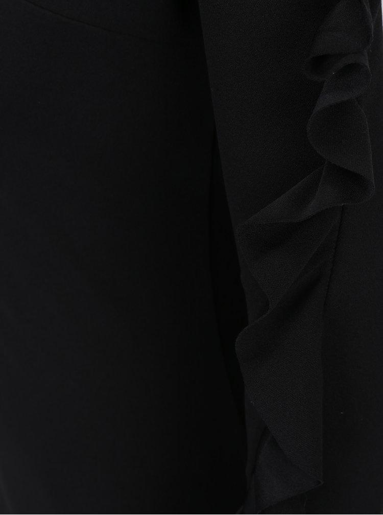 Černé asymetrické pouzdrové šaty Ax Paris