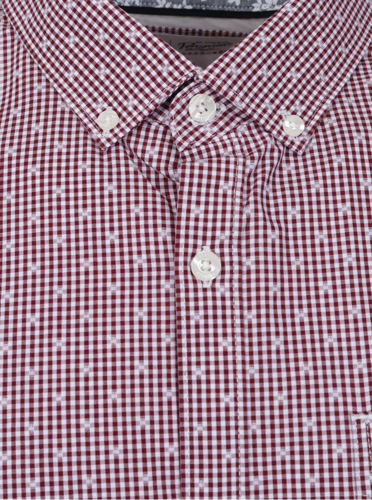 Bílo-červená vzorovaná slim fit košile Original Penguin Mini Gingham