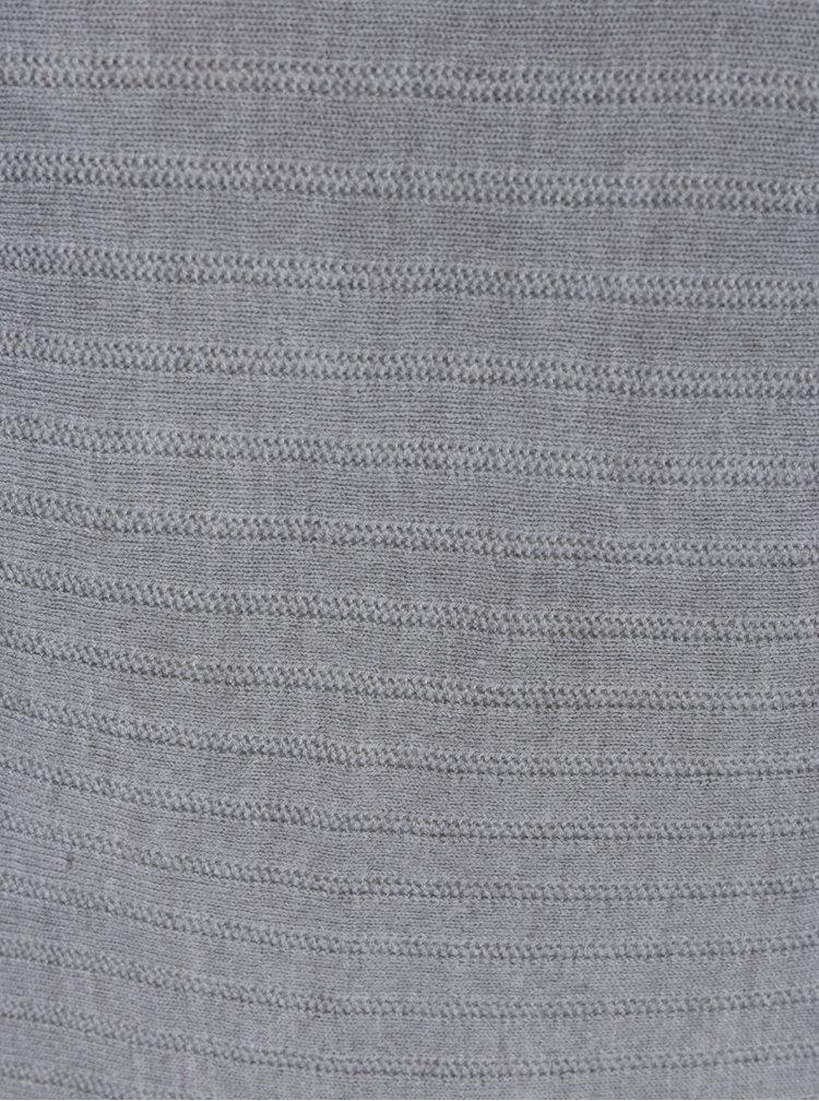 Světle šedé svetrové šaty Jacqueline de Yong