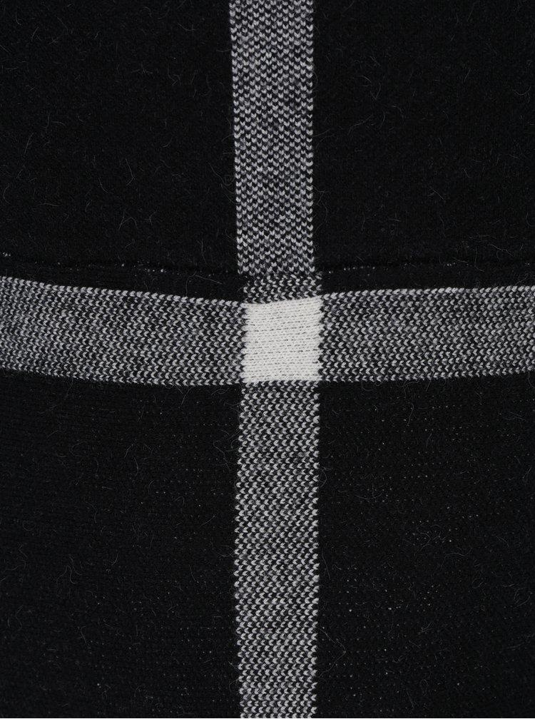 Krémovo-černé kostkované minišaty s krátkými rukávy Apricot