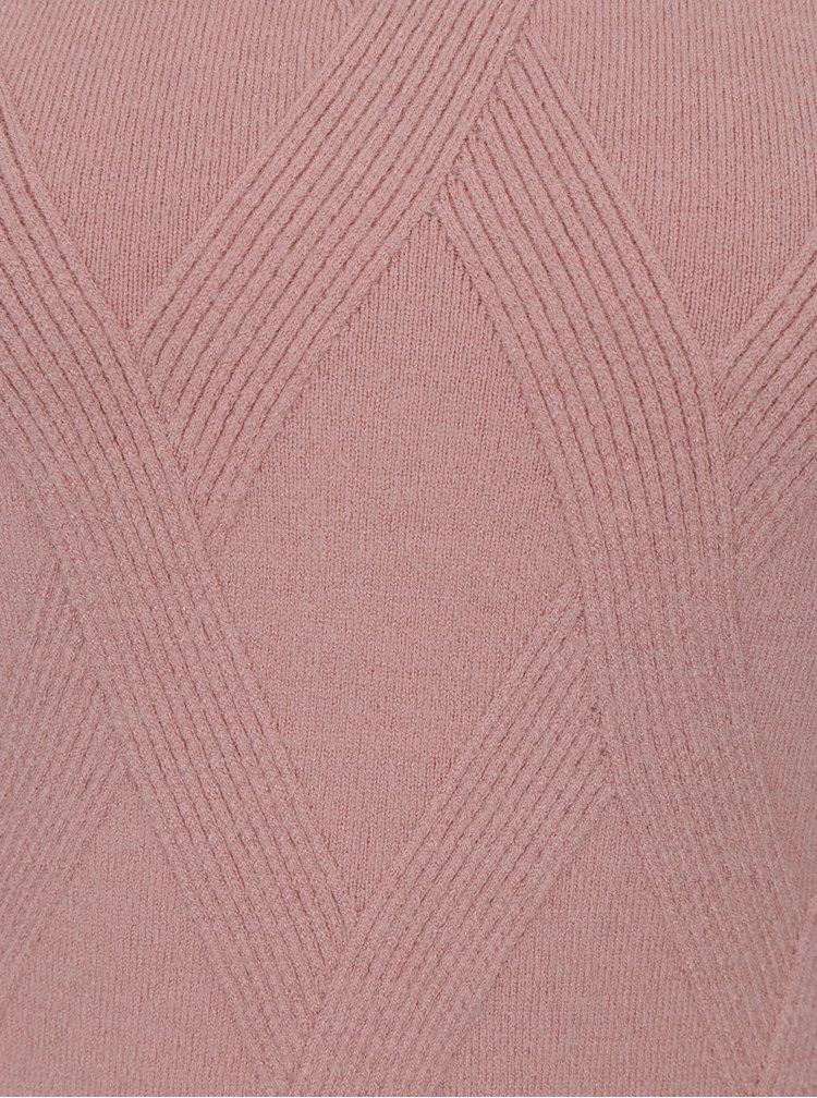 Růžový svetr s volány na rukávech Apricot
