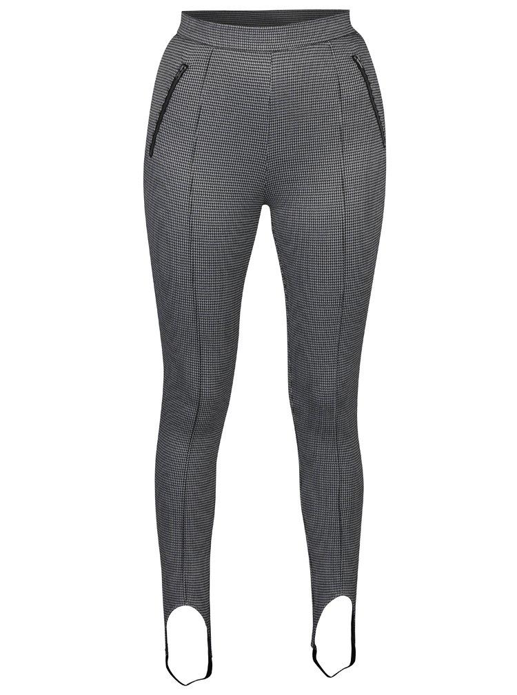 Krémovo-černé vzorované kalhoty Noisy May Ainsley