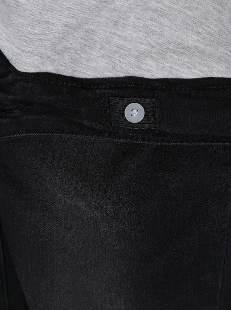 Černé těhotenské džíny s vyšisovaným efektem Mama.licious Feodora