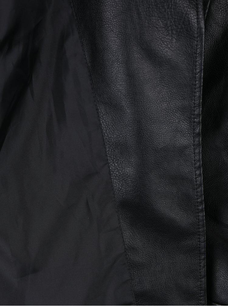 Černý koženkový křivák VERO MODA Tina