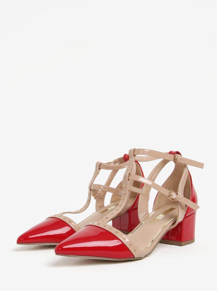 Růžovo-červené sandálky na podpatku Miss KG Averie