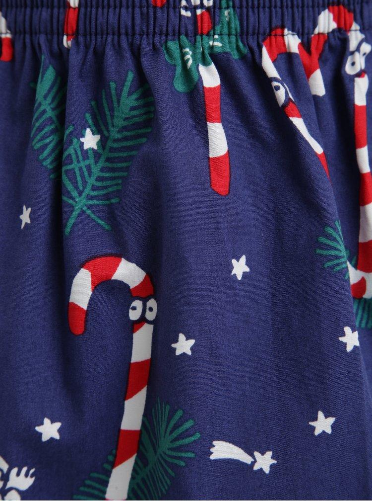 Boxeri bleumarin cu print tematic de Craciun -  Lousy Livin Sugar Sticks