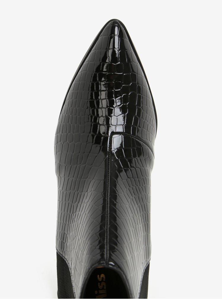 Černé lesklé chelsea boty na podpatku Miss KG Sharpe