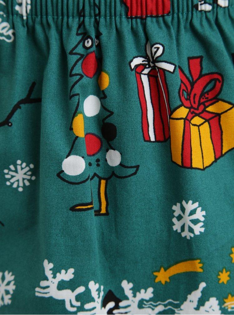 Zelené trenýrky s vánočním motivem Lousy Livin Merry Merry