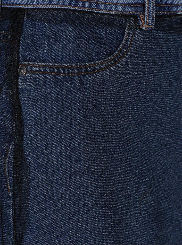 Černá tylová maxi sukně s všitou džínovou sukní Noisy May Be