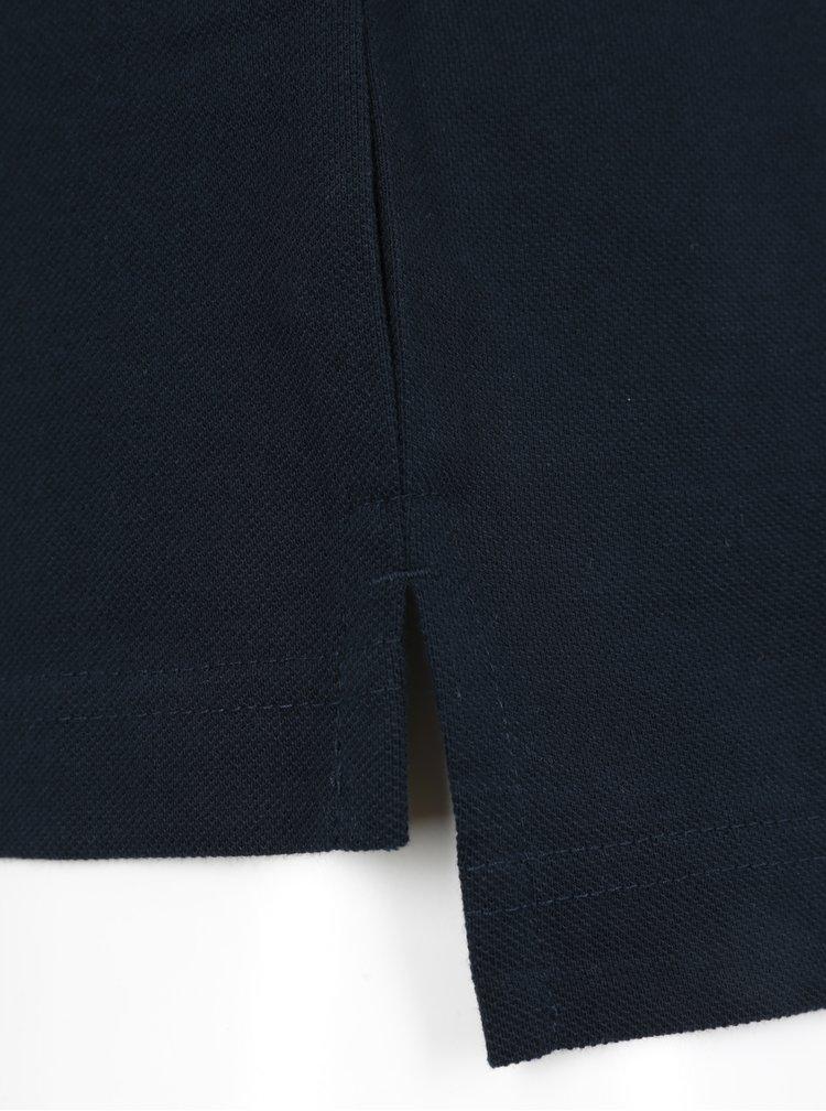 Tmavomodrá pánska polokošeľa Tommy Hilfiger Luxury