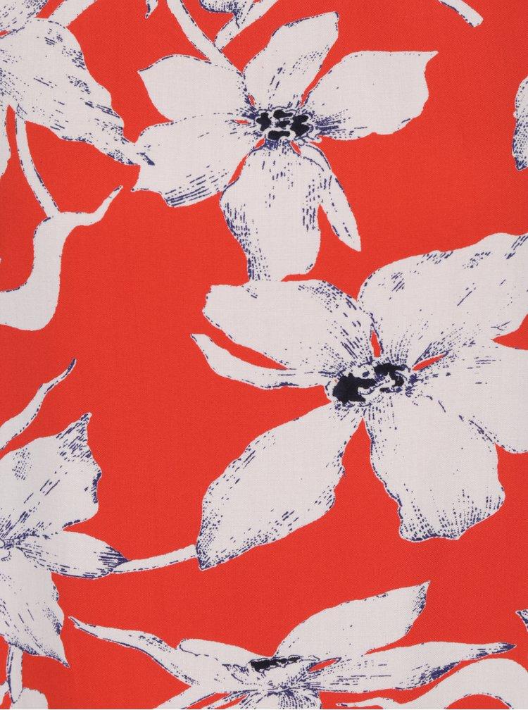 Krémovo-oranžové květované šaty VERO MODA July