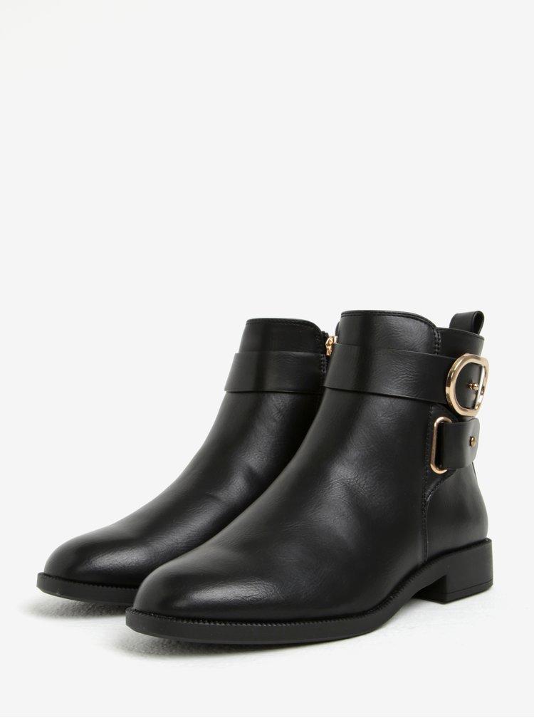 Černé kotníkové boty s přezkou Miss KG Trinny