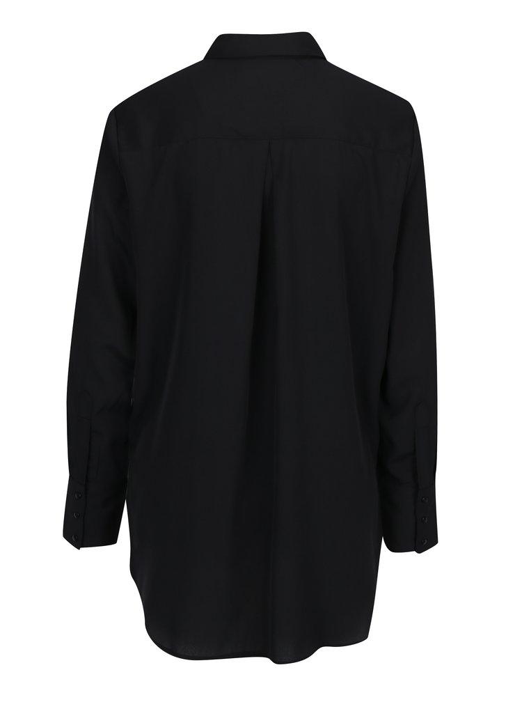 Camasa neagra cu nod decorativ VERO MODA Bind