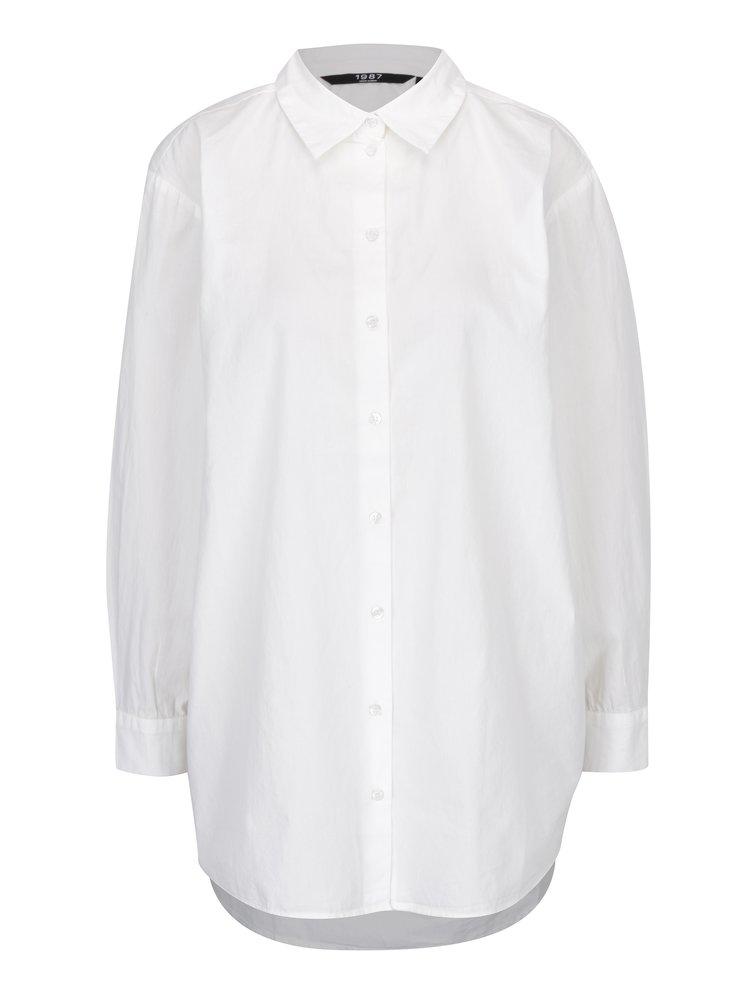Krémová dlouhá oversize košile VERO MODA Big