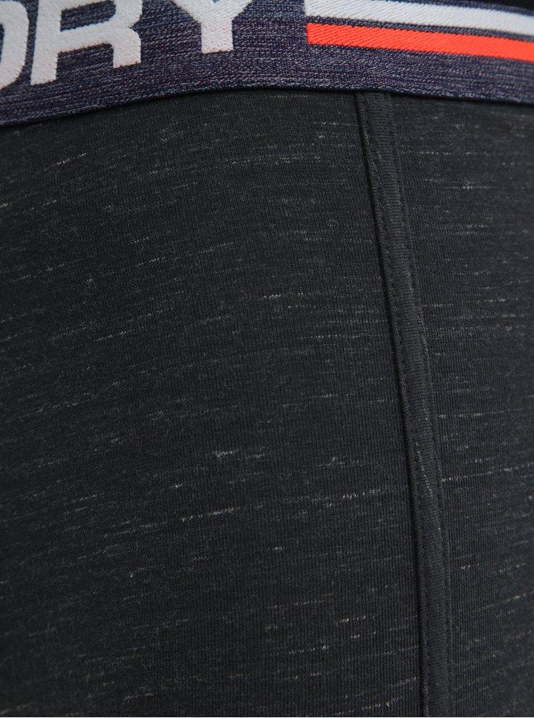 Sada dvou pánských boxerek v šedé a modré barvě Superdry