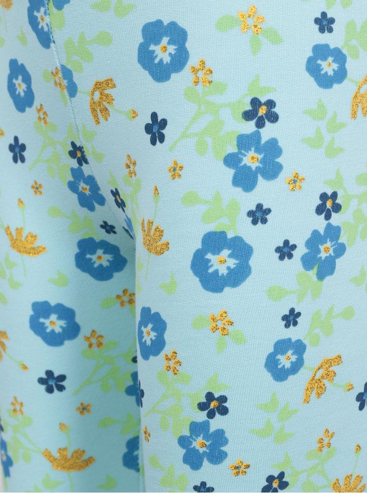 Modré květované holčičí legíny Venere