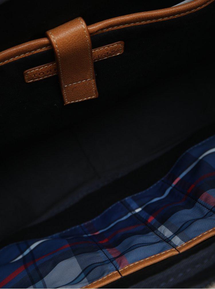 Hnědá pánská kožená taška Tommy Hilfiger