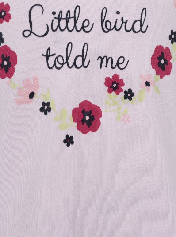 Růžové holčičí tričko s volány Venere