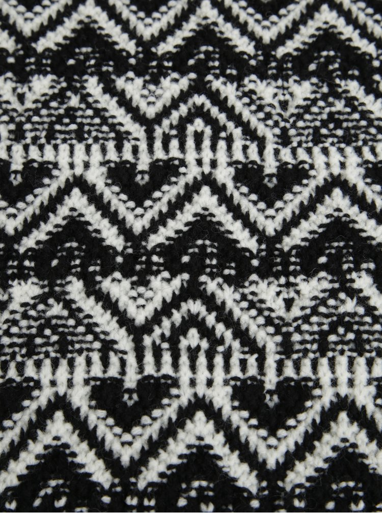 Fular alb & negru din amestec de lana - O'Neill